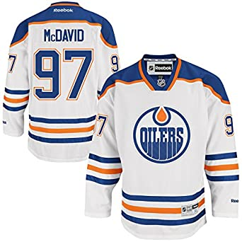 8e8819e95 ... Sports Outdoors Edmonton Oilers Trikot 97 Connor McDavid Jersey Ice  Hockey Shirt Mens White Size XXXL(56 ...