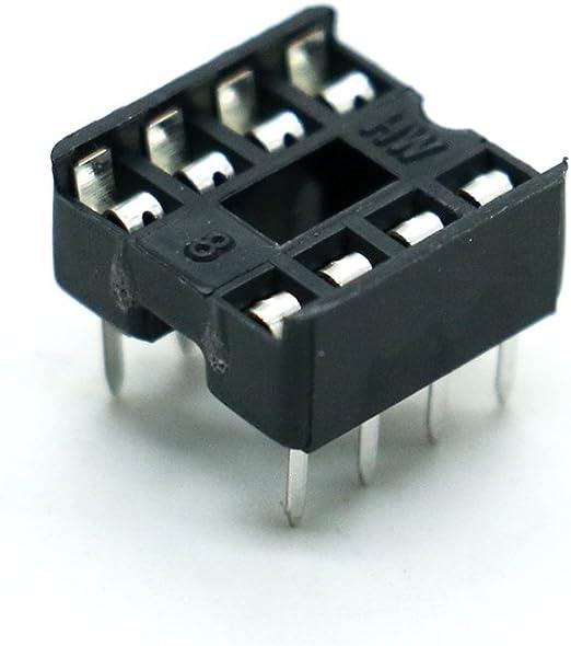 10 PCS 8 Pin DIP8 Integrated Circuit IC Sockets Adaptor Solder Type HICA