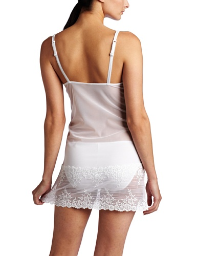 da5a1bf916f Wacoal Embrace Lace Chemise 814191 Delicious White Whites XL for ...