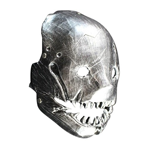Masquerade Costumes Scary Butcher Cosplay Silver Mask for Adult]()