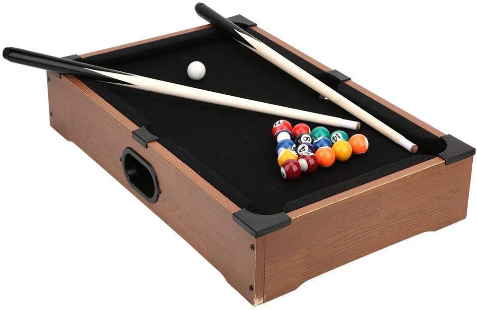 Keen so Billiard Table,Wood Look Mini Pool Table Children Tabletop Pool Table Desktop Billiards Sets Home Playing Sports