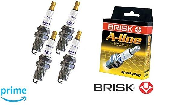 Brisk line 37 Yttrium LR15TCY-1 1451 Bujías de Encendido, 4 piezas: Amazon.es: Coche y moto