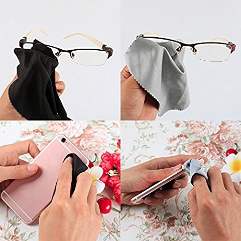 Yaheetech 6 PCS Microfiber Cleaning Cloths For Eyeglasses, Camera Lens, Cell Phones, CD/DVD, Computers, Tablets, Laptops, Telescope, LCD Screens and Other Delicate Surfaces - Delicate Audio Equipment