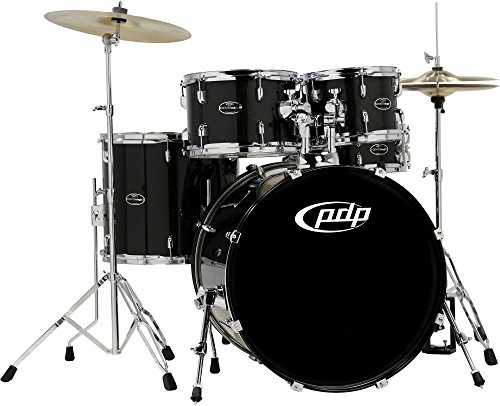 PDP By DW CenterStage 5-Piece Drum Kit with Hardware and Cymbals Onyx (PGCE22KTOS)