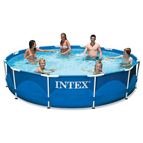 Intex 12ft X 30in Metal Frame Pool Set with Filter Pump (Pools Metal Swimming Frame)