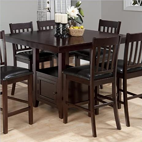 Amazoncom Jofran Counter Height Square Storage Dining Table in