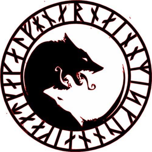 [해외]WickedGoodz ULFHEÐNAR Rune No Mercy Only Violence Wolf Vinyl Decal - Viking Bumper Sticker - Perfect Icelandic Scandinavian Gift / WickedGoodz ULFHEÐNAR Rune No Mercy Only Violence Wolf Vinyl Decal - Viking Bumper Sticker - Perfe...