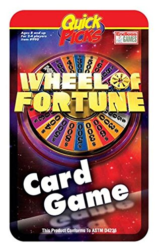 Quick Picks Wheel of Fortune Travel Card Game in a Tin (Pick Quick Tin Game)