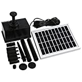 NEWSTYLE Solar Fountain Pump 2W Outdoor Solar Water Pump for Pool Pond Bird Bath Tank and Garden Decoration
