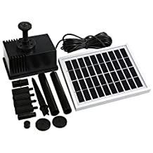 NEWSTYLE Solar Fountain Pump 2W Outdoor Solar Water Pump for Pool Pond Bird Bath Tank and Garden Decoration