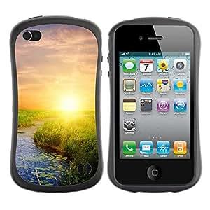 "Hypernova Slim Fit Dual Barniz Protector Caso Case Funda Para Apple iPhone 4 / iPhone 4S [Naturaleza Sunset Belleza""]"