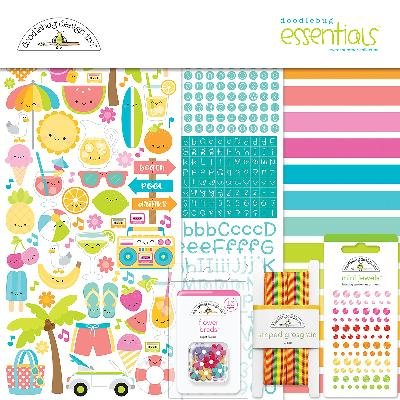 Doodlebug 6001 Sweet Summer Essentials Kit Doodlebug Design Cardstock Stickers