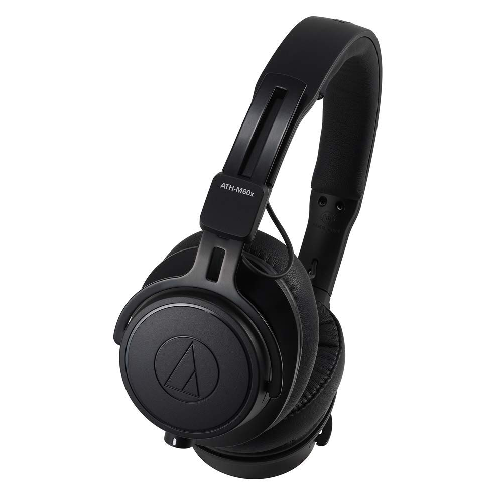 Audio-Technica ATH-M60X On-Ear Closed-Back Dynamic Professional Studio Monitor Headphones (Renewed)