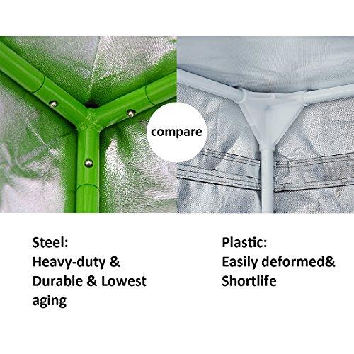 Vivosun 36 x36 x72 mylar hydroponic grow tent with for Mylar flooring