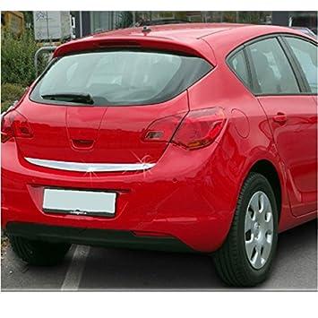 uncarparts unks1068 - Acero inoxidable Cromo trasero (para maletero Adecuado para Opel Astra J: Amazon.es: Coche y moto