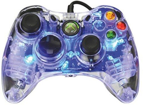 Afterglow Wired Controller for Xbox 360 - Blue (Green Xbox 360 Controller Wired)