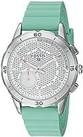 Fossil Q Modern Pursuit Gen 2 Women's Mint Green Silicone Hybrid Smartwatch FTW1134