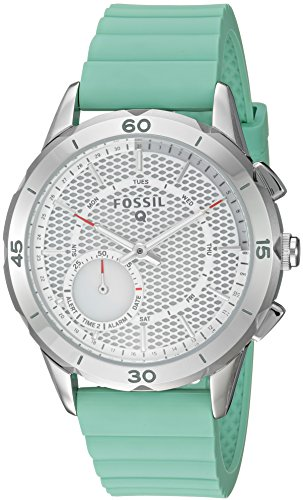 Fossil-Q-Modern-Pursuit-Gen-2-Womens-Mint-Green-Silicone-Hybrid-Smartwatch-FTW1134