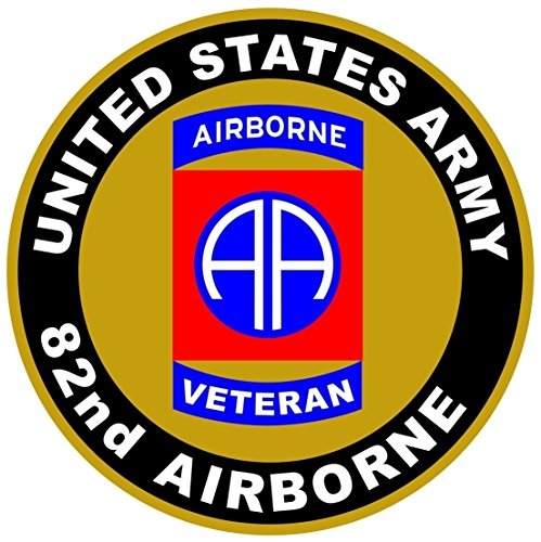 1 Pc Superbly Fashionable US Army Veteran 82nd Airborne Sticker Sign Vinyl Outdoor Car Decals Size 12
