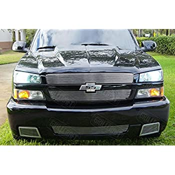 2003 2005 chevy silverado 1500 ss black billet grille grill combo insert automotive. Black Bedroom Furniture Sets. Home Design Ideas