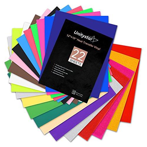 Heat Transfer Vinyl, UnityStar 22-pack of 12