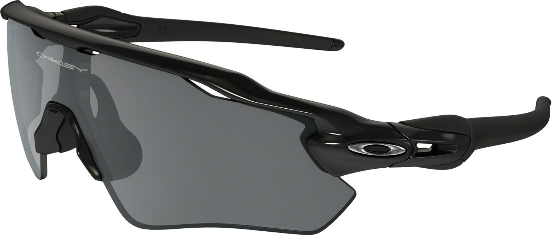 Oakley Boys' Radar Ev Xs Path Polarized Iridium Rectangular Sunglasses, Polished Black, 31 mm