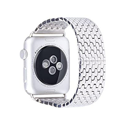 Apple Watch Band, ZoneYiLa® Stainless Steel Replacement Smart Watch Band Link Bracelet (NEW Snakeskin 38mm)