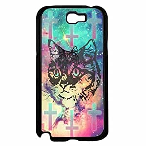 Trippy Cute Cat Plastic Phone Case Back HTC One M7