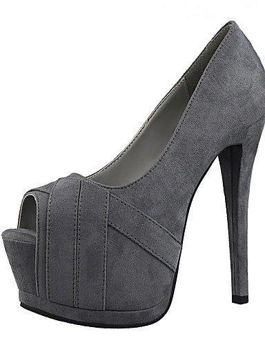 GGX/ Damen-High Heels-Kleid-Wildleder-Stöckelabsatz-Absätze / Spitzschuh
