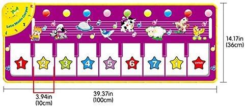 Dance Mat,Kids Musical Mats,Music Piano Keyboard Dance Floor Mat,Carpet Animal Blanket Touch Playmat Early Education Toys for Boys And Girls Dance Mat