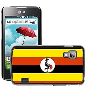 GoGoMobile Slim Protector Hard Shell Cover Case // V00001183 uganda National Country Flag // LG Optimus L5 II Dual E455 / E460
