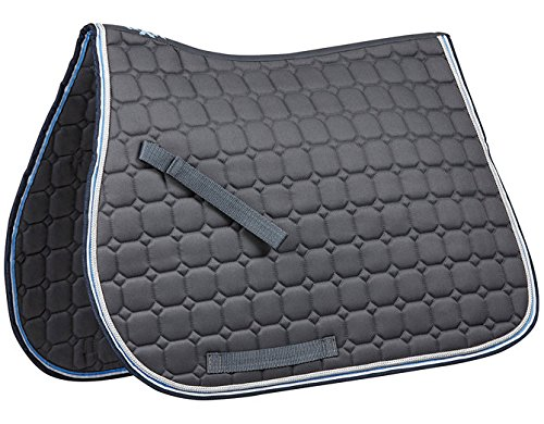 Saxon Coordinate Quilted AP Saddle Pad Full Gray ()