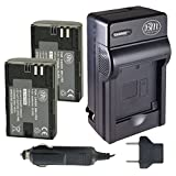 BM Premium 2-Pack of LP-E6, LP-E6N Batteries and Charger for Canon XC10, EOS 60D, EOS 60Da, EOS 70D, EOS 80D, EOS 5D II, EOS 5D III, EOS 5Ds, EOS 6D, EOS 7D, EOS 7D Mark II Digital SLR Camera