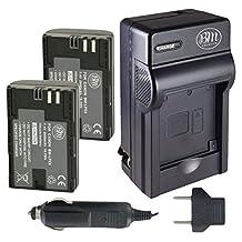 BM Premium 2-Pack of LP-E6, LP-E6N Batteries and Charger for Canon XC10, EOS 60D, EOS 60Da, EOS 70D, EOS 80D, EOS 5D II, EOS 5D III, EOS 5Ds, EOS 6D, EOS 7D, EOS 7D Mark II Digital SLR Camera