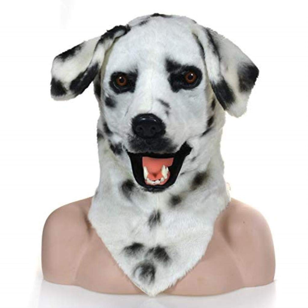 KEMANDUO Dog Mask Halloween Costume Hockey Mask Male Female Adult Child Horror Cosplay (Color: White) by KEMANDUO