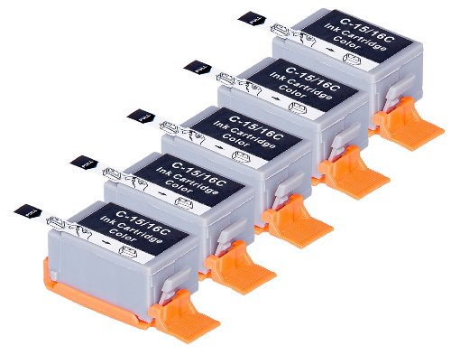 5 Pack Compatible Canon BCI-15 5 Tri Color for use with Canon Canon i70, i80. Ink Cartridges for inkjet printers. BCI-15-C © Blake Printing Supply