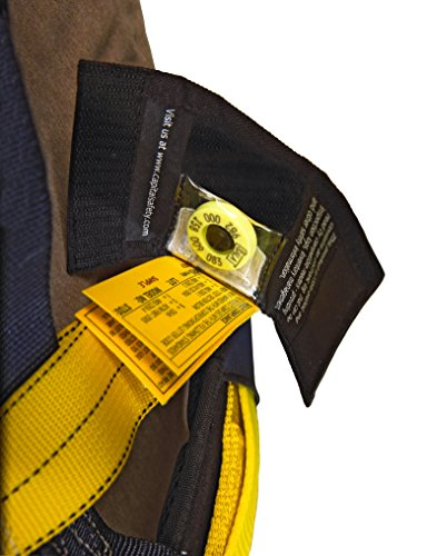 3M DBI-SALA Delta 1101654 Construction Harness, Back/Side D-Rings, Belt w/Sewn-In Back & Shoulder Pads, Tongue Buckle Leg Straps, Medium, Navy/Yellow by 3M Fall Protection Business (Image #8)