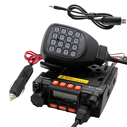 Car Radio Cables - TALKCOOP KT-8900 25/20W UHF VHF Mobile Radio 136-174/400-480MHz Mini Car Radio Amateur Radio+ Free Programming Cable and CD