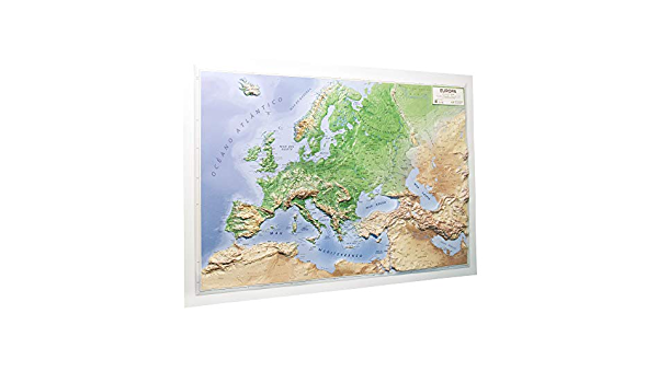 Mapa en relieve de Europa físico: Escala 1:11.000.000: Amazon.es: All 3D Form S. L.: Libros