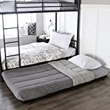 walker edison twin trundle metal bed black
