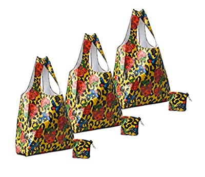Earthwise Tyvek® Leopard Print Reusable Shopping Tote Bags (3 Pack)