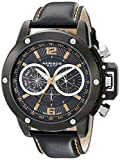 Akribos XXIV Men's AKR469BK Conqueror Multifunction Stainless Steel Swiss Quartz Strap Watch
