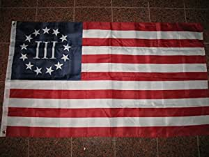 Betsy Ross Nyberg Battle III Flag 3 Percent Polyester 3 x 5 Threeper Banner New