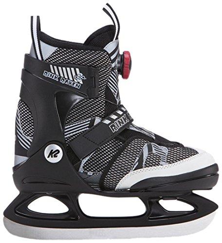 K2 Skate Rink raven BOA Skates, Black/White, Size 11-2 by K2 Skate