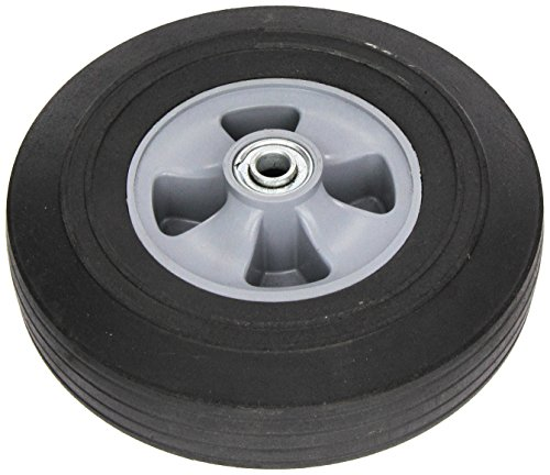 "Wesco 108479 10"" Diameter Poly Hub Solid Rubber Wheel, 250-lb. Capacity, 2-1/2"" Tread Width, 5/8"" Bore, 2-1/4"" Hub Diameter"