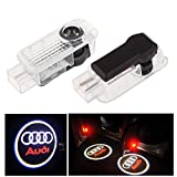 CARMOCAR Car Door LED Lighting Entry Laser Ghost Shadow Projector Welcome Lamp Logo Light for Audi Series (2 Pack )