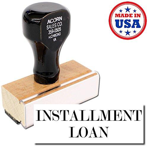 Acorn Sales   Large Installment Loan Rubber Stamp