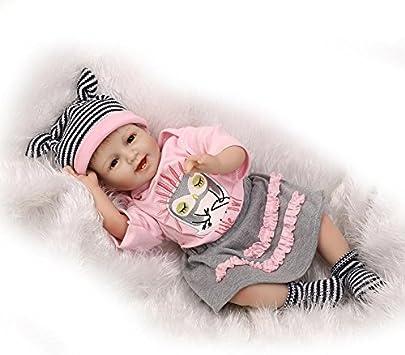 MAIDEDOLL Reborn Bambola Molle del Bambino di Simulazione del Silicone Vinile 22 Pollici 55 Centimetri Magnetica Bocca Bella Realistica Sveglia della Ragazza del Ragazzo Bambini Giocattolo