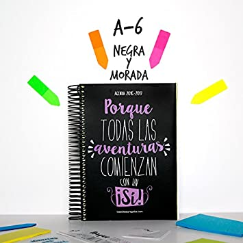 TODOIDEAS AGENDA 2017 A6 NEGRA Y MORADA