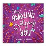 Itty Bitty Gifts Baby Memory Books for Girls - Baby Journal - Baby First Year Book - Baby Scrapbook Album - Baby Keepsake Book - Bonus Gift Box - 56 Pages